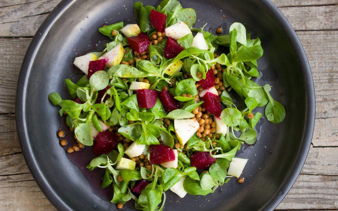 Healthy Vegetarian Salad - Foto de Einladung_zum_Essen. Utilizada para artículo 'Vida Sana y Saludable'.