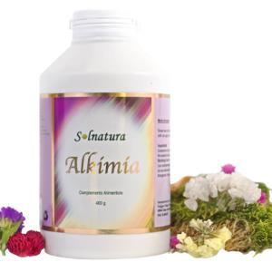 Alkimia Suplemento Alimenticio - Bote con 60 cápsulas y con etiqueta de Solnatura. Depurador natural y probiótico natural.