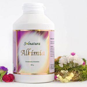 Alkimia Suplemento Alimenticio - Bote con 60 cápsulas y con etiqueta de Solnatura.